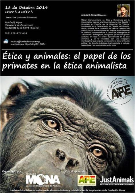 Cartel del curso de ética animalista
